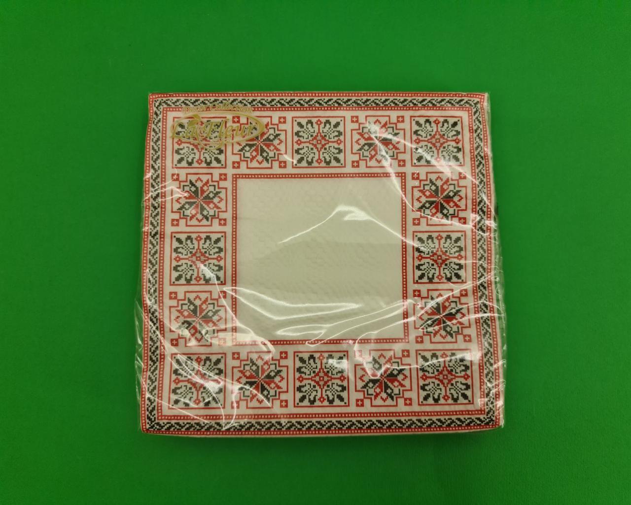 Салфетка декор (ЗЗхЗЗ, 20шт)  La Fleur Симметричный орнамент (1 пач)