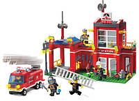 Брикс конструктор «Пожарная охрана», красочная тематическая игра для возраста 6+