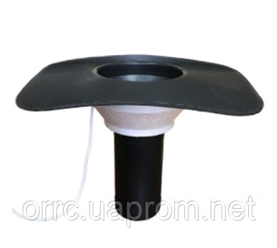 IGOM вертикальна воронка 110*330 мм під бітум з приймальною чашею з ОБІГРІВОМ, фото 2