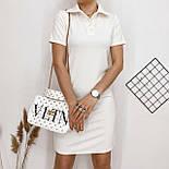 Пряме плаття поло з короткими рукавами у спортивному стилі і рубашечным коміром (р. 42-48) 84032666, фото 3