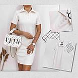 Пряме плаття поло з короткими рукавами у спортивному стилі і рубашечным коміром (р. 42-48) 84032666, фото 4