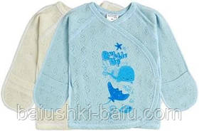 Сорочечка річна для новонародженого малюка (блакитний), р. 56