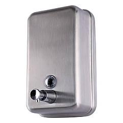 Дозатор нажимной для жидкого мыла настенный HOTEC 13.111 сатин нержавеющая сталь 600мл 103319