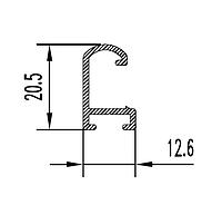 Алюминиевый рамочный профиль 12,6х20,5 БПО-1182