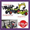 Детский педальный трактор с прицепом и ковшами Falk 2040N CLAAS Arion 410