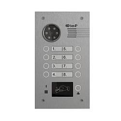 Многоабонентская вызывная панель Bas IP BA-08E SILVER (EM-Marin)