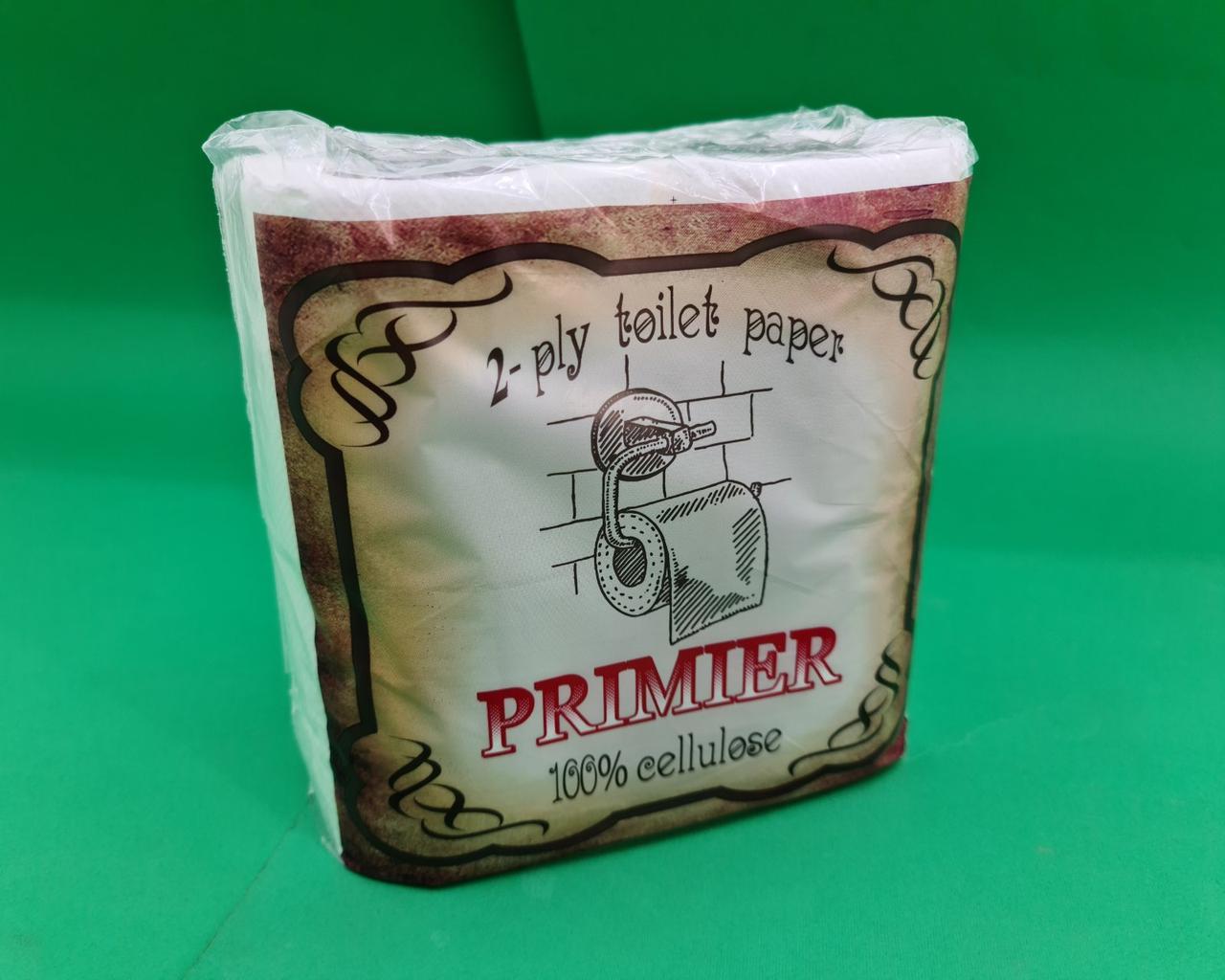 Бумага туалетная  белая (а4*150) Примьер (1 пач)