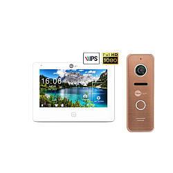 Комплект відеодомофона Neolight NeoKIT HD Pro Bronze