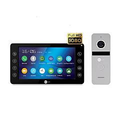 Комплект відеодомофона Neolight Kappa+ HD Black / Solo FHD Silver