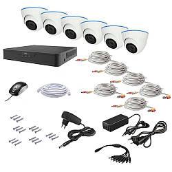 Комплект видеонаблюдения AHD 6IN 2MEGA