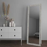 Большое зеркало напольное в раме под дерево 182х62 Black Mirror в спальню прихожую коридор гардероб магазин