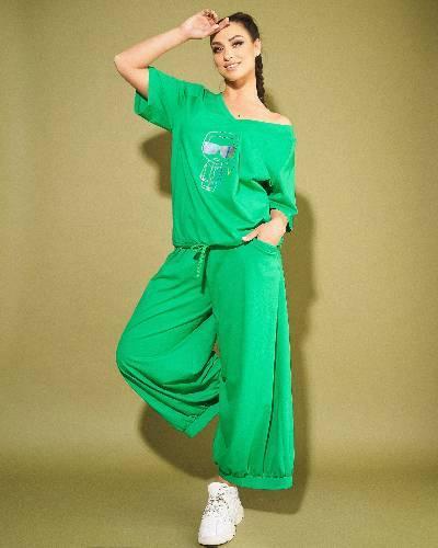 Жіночий модний костюм кофточка+штани батал новинка 2021