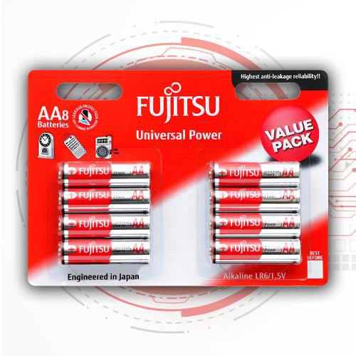 Пальчиковые батарейки АА алкалиновые (щелочные) FUJITSU Alkaline - АА, LR6, 8 шт