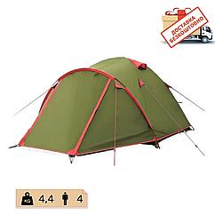 Намет Tramp Lite Camp 4 місний, TLT-008.  Намет туристичний двошаровий