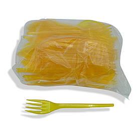 Вилки пластиковые Желтые 100 шт Юнита