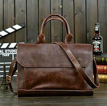 Класична чоловіча сумка для документів офісна, чоловічий діловий портфель для роботи, планшета