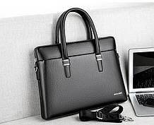 Стильна чоловіча сумка для документів А4 через плече ділова офісна сумка для чоловіка на роботу під документи