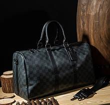 Стильна чоловіча міська сумка на плече, велика і містка дорожня сумка для ручної поклажі з ручкою