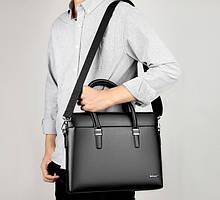 Чоловіча сумка портфель для документів формат А4, діловий портфель керівника, сумка для ноутбука еко шкіра