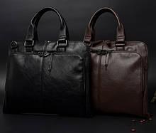 Чоловічий діловий портфель для документів формат А4, чоловіча сумка офісна для роботи еко шкіра