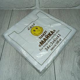 Фасувальні пакети майка 24см 43см Смайл Люкс 100шт (1 пач.)