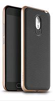 Чехол накладка IPAKY TPU + бампер PC для Meizu M2 Note золотой