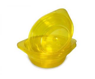 Миска одноразовая 500мл Стекловидная Юнита желтая 10 шт