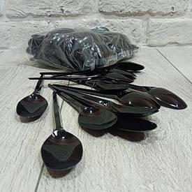 Ложка одноразовая   столовая черная Юнита (100 шт)