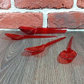 Ложки Юнита пластиковые Премиум 100 шт Красные