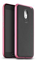 Чехол накладка IPAKY TPU + бампер PC для Meizu M2 Note розовый