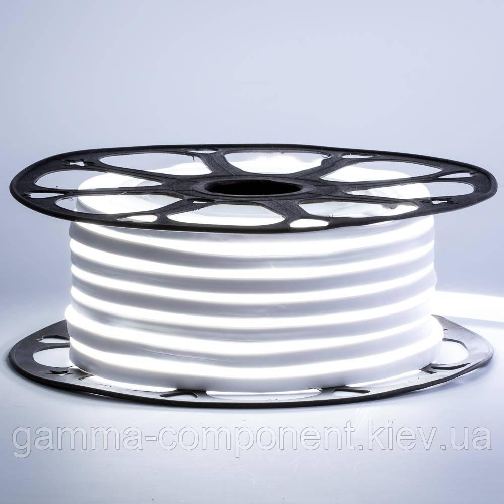 Светодиодный неон 220В белый холодный AVT-1 smd 2835-120 лед/м 7Вт/м, герметичный. Бухта 50 метров