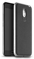 Чехол накладка IPAKY TPU + бампер PC для Meizu M2 Note серебряный
