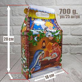 """Новогодняя коробка для конфет 700 грам """"Ангелы"""" уп/25 штук"""