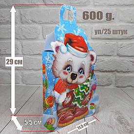 """Новогодняя коробка для конфет 600 грамм """"Медвиженок"""" уп/25 штук"""