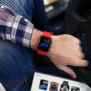 Мужские смарт часы Modfit WH22 All Red Умные смарт часы .Сенсорные наручные часы