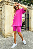 Костюм женский летний футболка с велотреками (4 цвета, р.42-48), фото 6