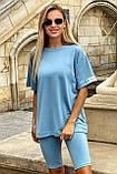 Костюм женский летний футболка с велотреками (4 цвета, р.42-48), фото 7