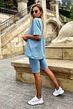 Костюм женский летний футболка с велотреками (4 цвета, р.42-48), фото 8