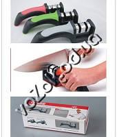 Ручная ножеточка точило точилка для ножей 2 в 1 Knife Sharpener SR-2250 для керамики и стали, фото 1