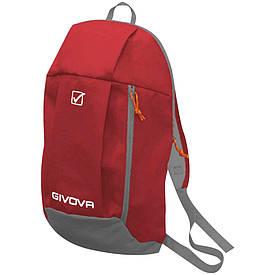 Детский спортивный рюкзак для футбола и тренировок Givova Zaino красный