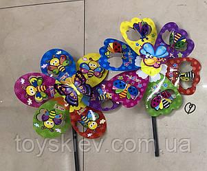 Ветрячок V2103 (240шт) Цветок 5 цветов 35 см