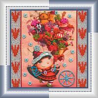 """Набор для вышивки бисером Мини """"Гостинцы"""" (15 х 15 см) Абрис Арт AM-013"""