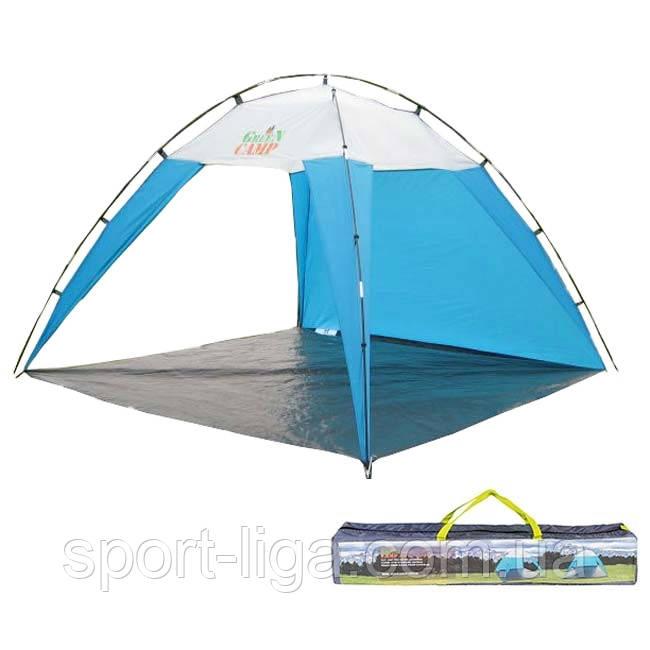 Тент пляжный Green Camp с сумкой