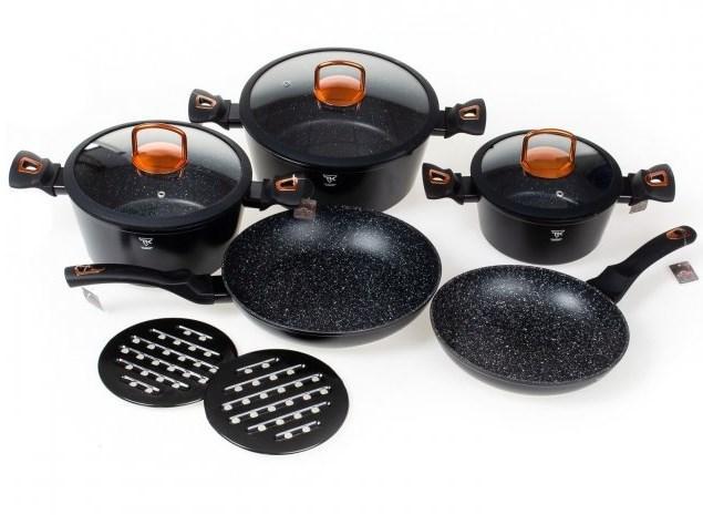 Набор кастрюль с гранитным мраморным покрытием 10 предметов Top Kitchen Deluxe TK00012