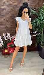 Летнее женское белое платье