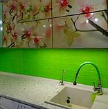Самоклеющиеся 3Д панели, декоративные стеновые панели 5 мм, Зеленый кирпич, фото 5