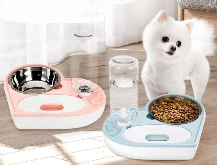 Автоматическая кормушка мыска ASENVER 2в1 Диспенсер для кормления кошек и собак