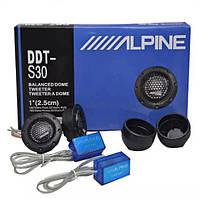 Автомобільні ВЧ динаміки твітери Alpine DDT-S30 180W, фото 1