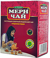 """Чай черный индийский """"MeriChai"""" 100г среднелістовий (+ложка)"""