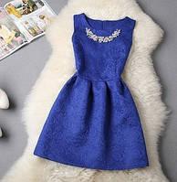 Платье женское нарядное (синее)
